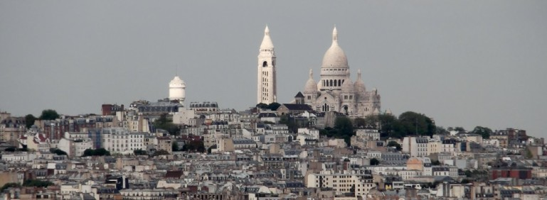 Sacré Coeur seen from the Arc de Triomphe