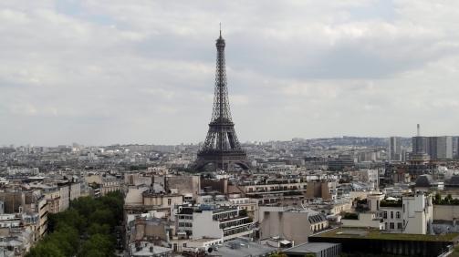 La Tour Eiffel seen from the Arc de Triomphe