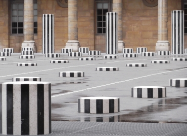 containing Daniel Buren's permanent....