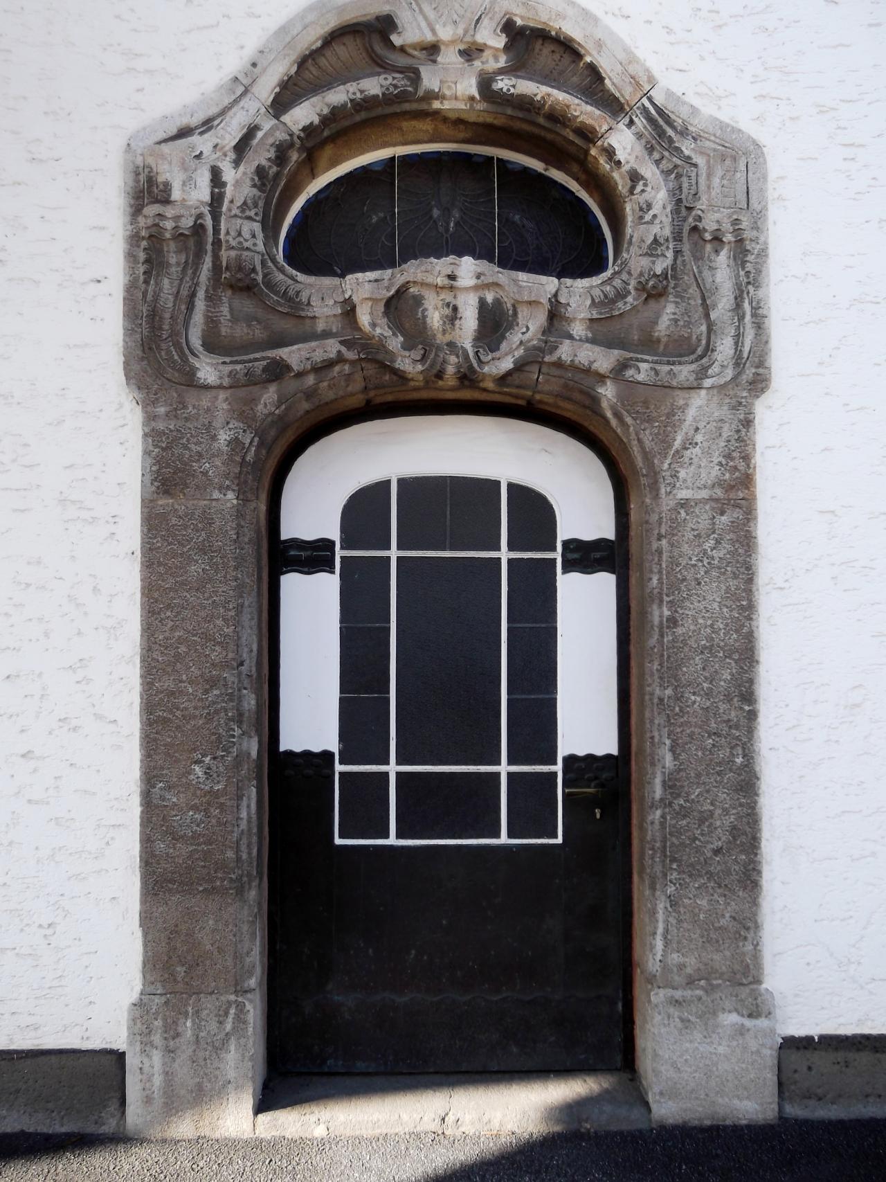 Art Nouveau (Jugendstil) Site Sprudelhof in Bad Nauheim,Germany.