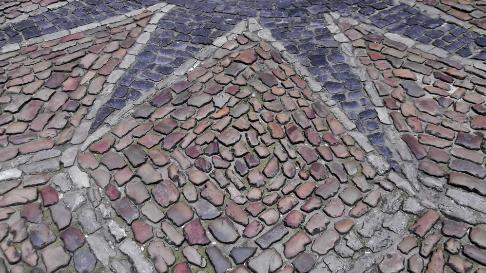 Cobblestone in the City Hall's Inner Courtyard