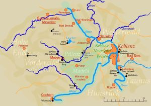 Map of the Eastern Eifel region