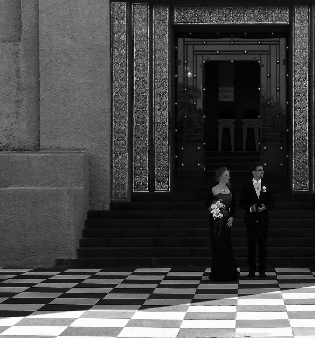 Monochrome Madness Week 6: A wedding in black and white.