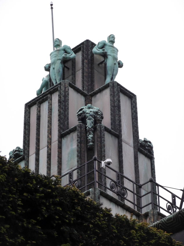 Tower with bronze sculptures by Franz Metzner