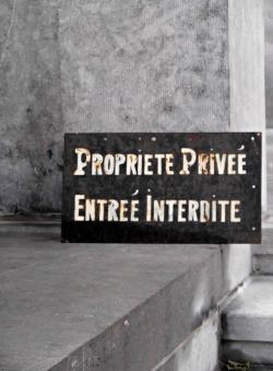 Private Property. No Trespassing. What a shame!