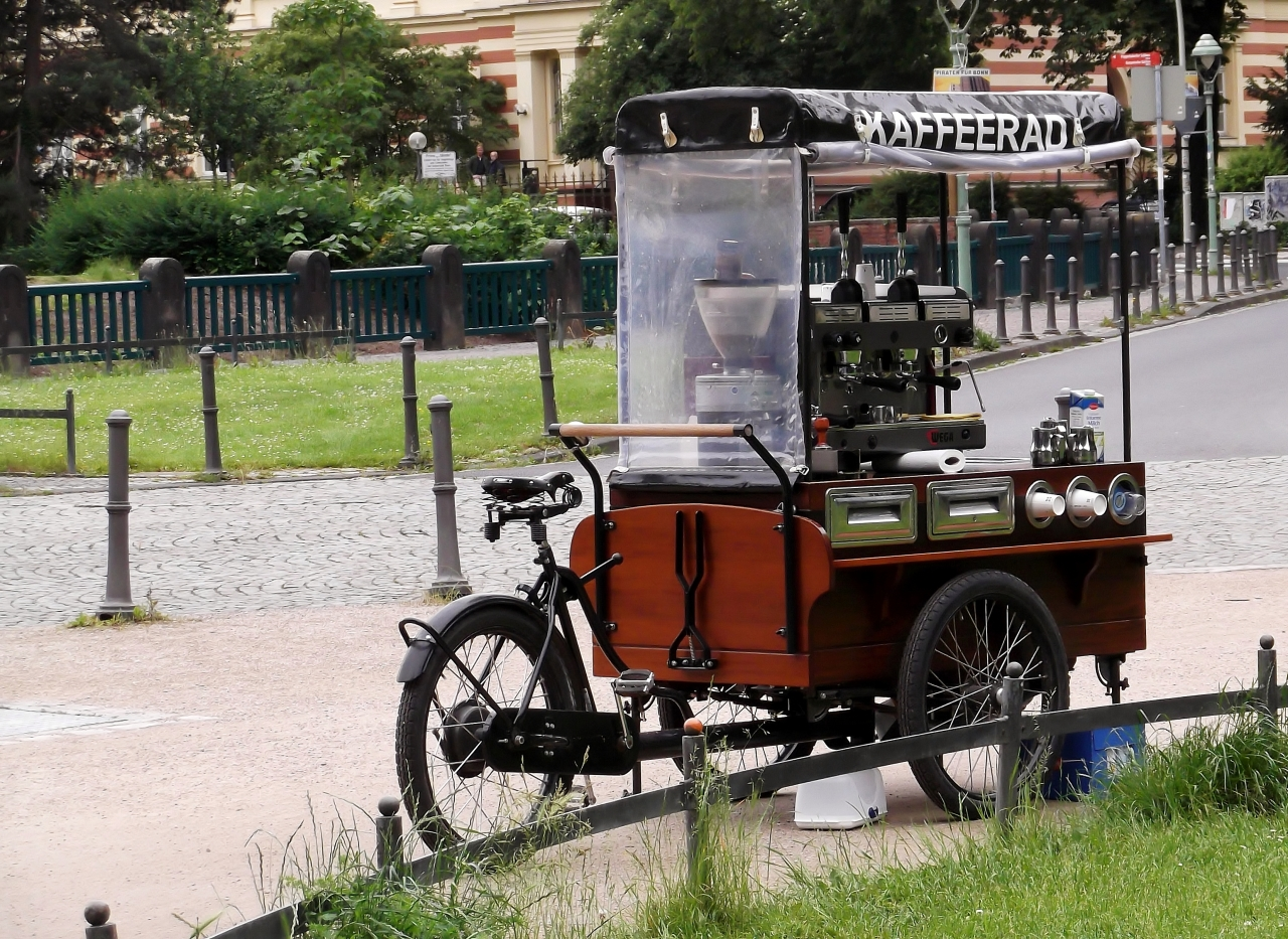 A big fat Coffee Machine that can follow you wherever you go, wouldn't that benice?