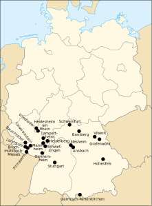 US military bases in Germany (2008) Credit: Rama