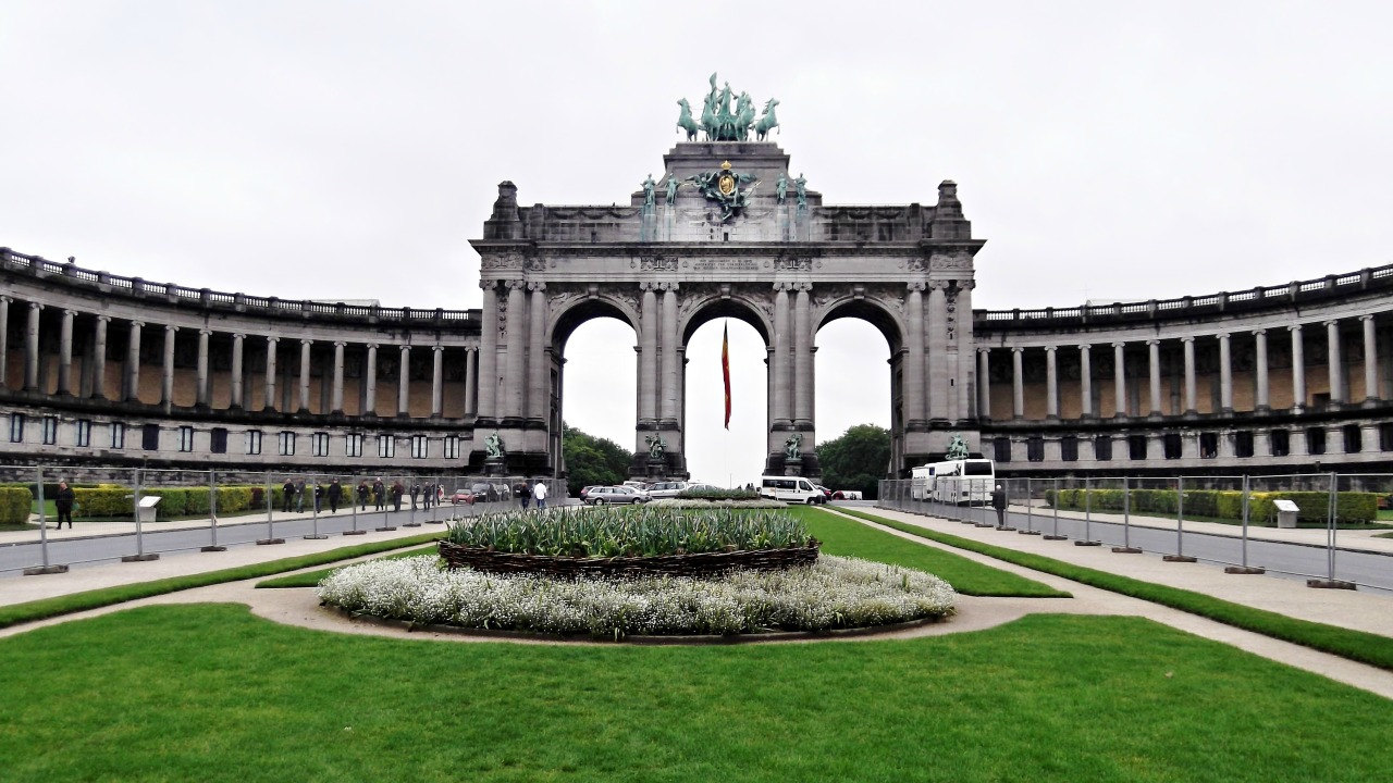 Brussels, Belgium: Parc du Cinquantenaire and Royal Museums of Art and History.