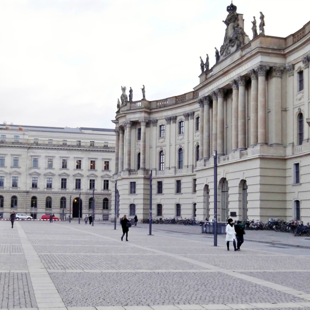 Bebelplatz with the Old Library on the right