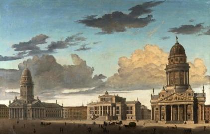 Gendarmenmarkt, painting by Carl Hasenpflug 1822